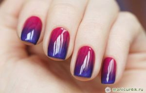 Gradient New Year's Manicure from en.Nails-Art-Design.com on HDATS MAG! hair designs across the street magazine®